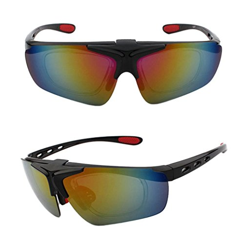 Price comparison product image Boofab Polarized Sports Sunglasses for Men Women Cycling Running Driving Fishing Golf Baseball Glasses with Myopia Frame,  Unbreakable Frame (C)