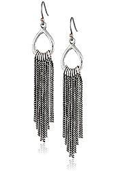 Lucky Brand Silver-Tone Chandelier Drop Earrings
