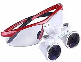 BoNew - Lupa binocular dental quirúrgica portátil (3,5X-R ...