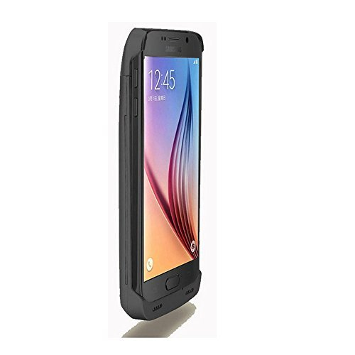 Galaxy S6 Edge Plus Battery CaseElebase trim External Battery Case4200mAh lightweight Backup Battery Charger Cover scenario for Samsung Galaxy S6 Edge PlusRechargeable ability Bank Caseblack Batteries