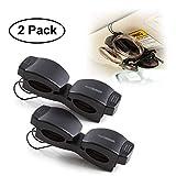 Superior Essentials Locking Double Sunglasses Holder for Sun Visor-Securely Holds Glasses & Sunglasses on Sun-Visor-Set of 2