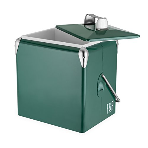 (Foster & Rye 7070 Vintage Metal Cooler Green Set of 1)