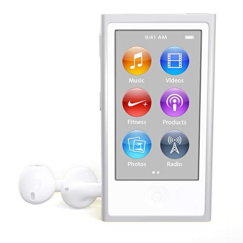 Music Player iPod Nano 7th Generation 16gb Silver Packaged in Plain White Box (Apple Headphones Ipod Nano)