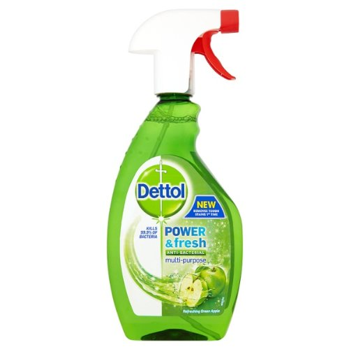Dettol Power & Fresh Anti-Bacterial Multi-Purpose Cleaner Refreshing Green Apple 500ml (Pack of 6)