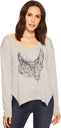 (Roper Women's 1427 Scoop Neck Long Sleeve Sweater Grey Large)
