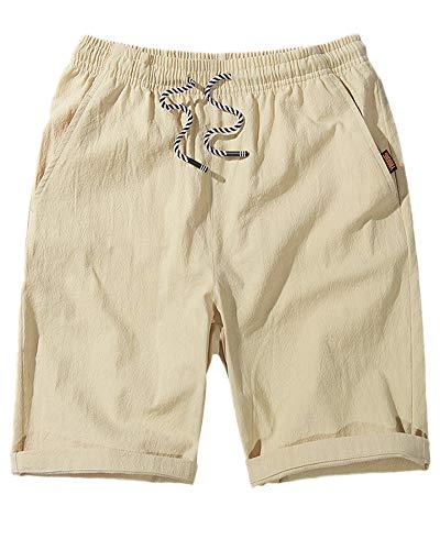 Coulisse Shorts Elastica Pantaloncini Spiaggia Vita Corti Yonglan Casual Estate Cachi Pantaloni Uomo Bermuda 0tqxxYI