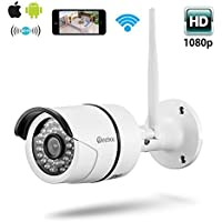 Deebol DB-754GA Wireless Wifi IP 1080P Bullet Camera 2.0 Megapixel Home Surveillance Indoor /Outdoor Cloud IP Camera,Mini Security Camera 20m IR Night Vision with IP66 Waterproof