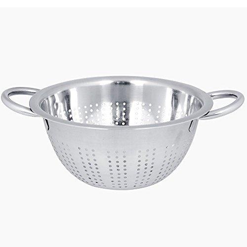 Kosma Stainless Steel Deep Colander- Size - 20 cm | Pasta Salad Fruit Food Strainer | Kitchen Colander