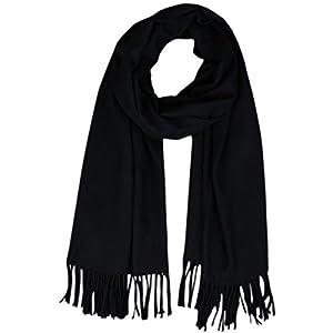 Lanzom Women Soft Cashmere Blanket Scarf Tassel Solid Color Warm Shawl Scarf