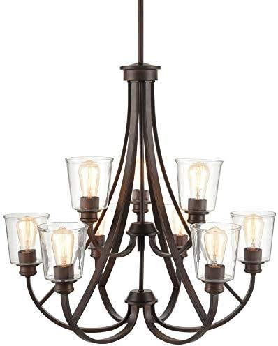 Millennium 3629-RBZ Transitional Nine Light Chandelier from Forsyth Collection Dark Finish - a good cheap living room chandelier