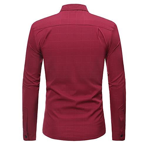 03b915402 Blusa de Hombre Camisetas de Hombre Abierta de Color sólido Lino ...