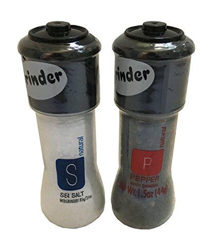 Cheap  Sea Salt and Pepper Grinder Combo Pack - Sea Salt with Grinder..
