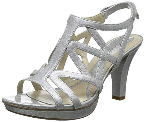 Naturalizer Women's Danya Dress Sandal,Silver Crosshatch,8 M US