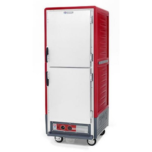 Metro C5 3 Series Heated Holding Cabinet Red Mobile C539-HDS-U