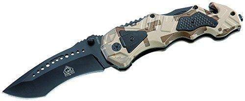 Puma TEC Einhand-Rettungsmesser Glasbrecher Länge geöffnet: 21.5 cm, 309012