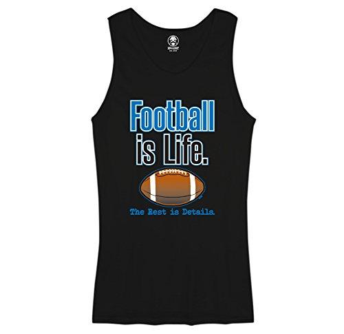 - Football is Life - Swift Pigeon Mens Tank Top (XL Black)