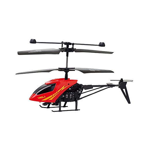 Remote Control Helicopter, Donsinn 2.5 Channel with LED Light Indoor RC Helicopter Toy for Kids, Teens, Adults – Red