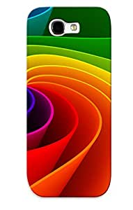 Hot Etqeis-1205-fcefosq Abstract Colors Tpu Case Cover Series Compatible With Galaxy Note 2