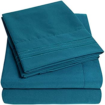 1500 Supreme Collection Extra Soft King Sheets Set, Teal - Luxury Bed Sheets Set with Deep Pocket Wrinkle Free Hypoallergenic Bedding, Over 40 Colors, King Size, Teal