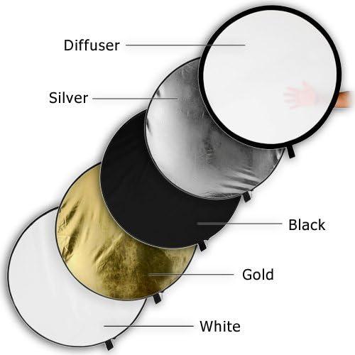 GTX Studio 36x485-in-1 Reflector GS-51R3648 White//Silver//Translucent//Gold//Sunlight