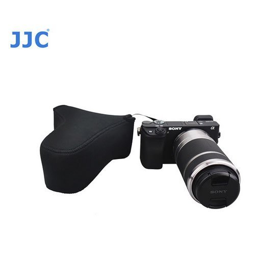 UPC 810957026820, JJC OC-S3BK Camera Bag Case for Sony A6300 A6000 A5100 A5000 NEX3N 5N+55-210mm for Olympus E-PL7 E-PL6 E-PL5 E-P5 E-PL3+75-300mm OR 12-40mm Lens + A&R Micro Fiber Cleaning Cloth