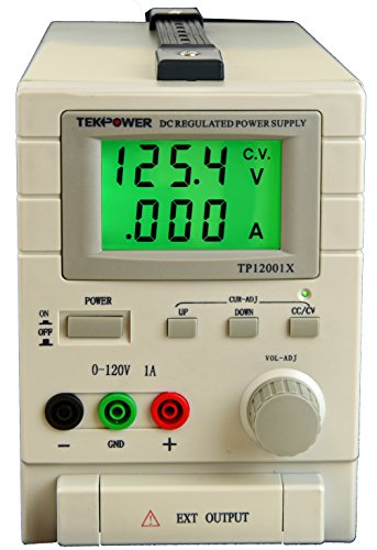 TekPower TP12001X 120V DC Variable Switching Power Supply Output 0-120V @1A, Digital Display With Back Light - Digital Back Adapter