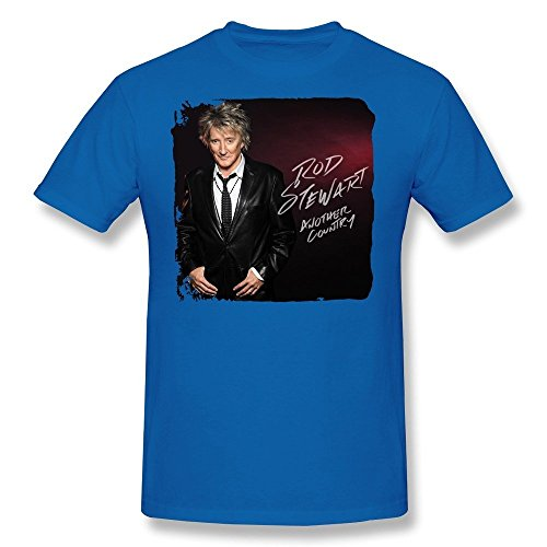 SALA Men's Rod Stewart Another Country 2015 Poster T-Shirts XL RoyalBlue