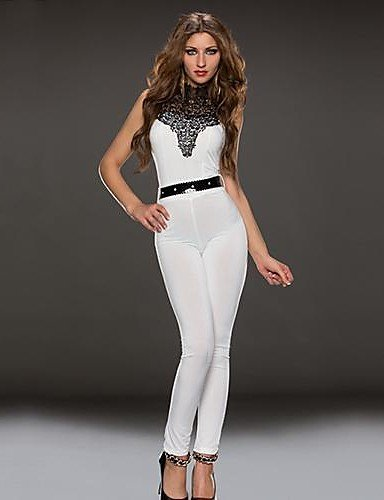 quality products select for newest double coupon Amazon.com: HJL-Women's Blue/White/Brown Jumpsuits , Sexy ...
