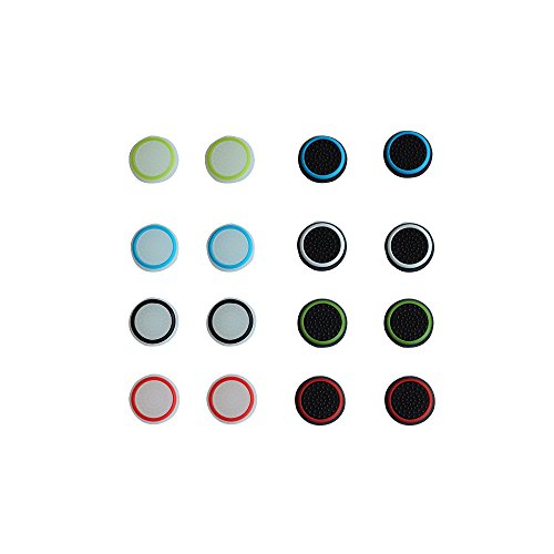 BFU 8 Pairs Silicone Analog Thumb Stick Grip Cap Cover, Analog Joystick Protect Caps for PS2, PS3, PS4, Xbox 360, Xbox One Controller For Sale
