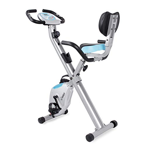 Akonza Fitness Foldable Magnetic Upright Exercise Bike w/Pulse Rate Monitoring