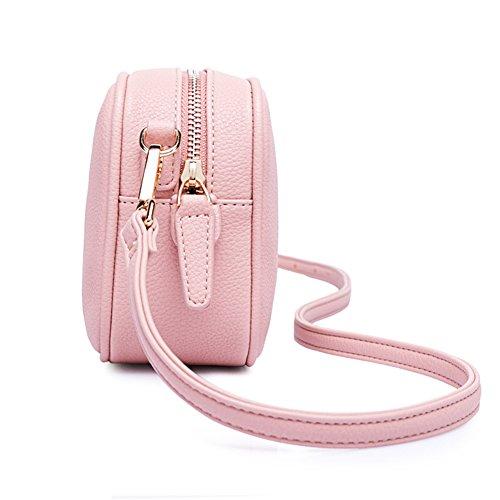 Qearly, Borsa a spalla donna rosa rosa