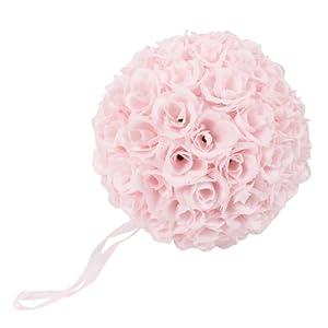 9.84 Inch Rose Pomander Flower Balls for Wedding Centerpieces Decorations Multicolour (Pink) 21