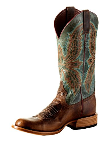 (Horse Power Western Boots Mens Bump Leather 9 D Saddle Mad Dog HP6003)