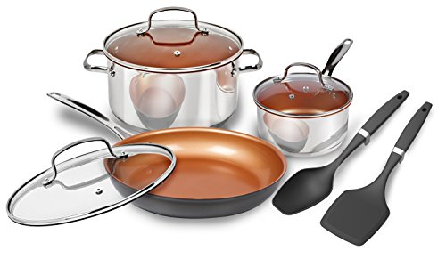 Nuwave 8 Piece Duralon Healthy Ceramic Non Stick Cookware