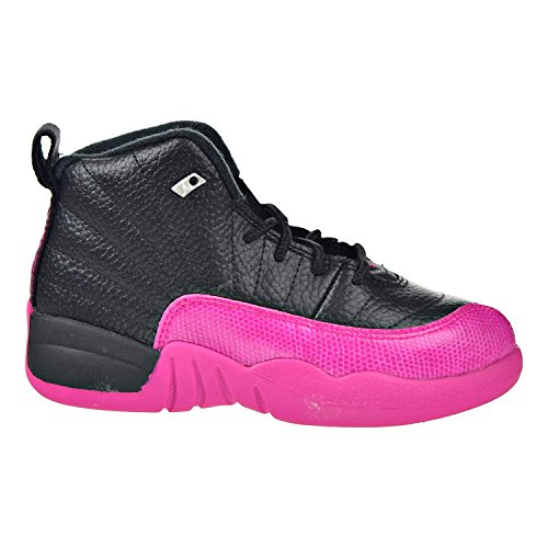 Jordan 12 Retro GP Little Kids Shoes Black/Deadly Pink 510816-026 (10.5 M US) (Shoes Pink Kids)