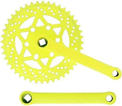 Riscko 007sml Juego De Bielas Bicicleta Personalizada Fixie Tallas S-m-l-l Urb Amarillo Fluor: Amazon.es: Deportes y aire libre