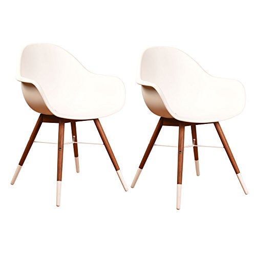 Amazonia Cannes Patio Dining Chair (Set of 2), Brown
