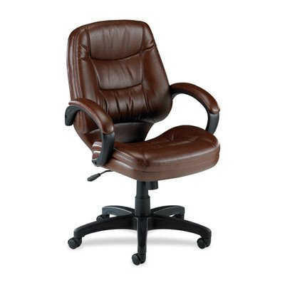 Lorell Westlake Series Managerial Mid-back Chairs, Brown