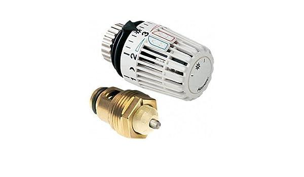 Heimeier Retro S Juego de reequipamiento de termostato de parte superior y cabezal de termostato para DN 20