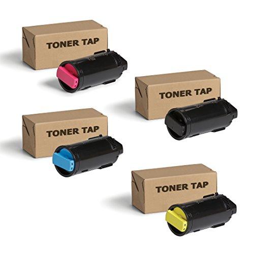 (Toner Tap for Xerox VersaLink C500, C500/N, C500/DN, Versalink C505, C505/S, C505, C505/X (106R03869, 106R03866, 106R03867, 106R03868) Extra High Yield (4 Pack, KCMY))