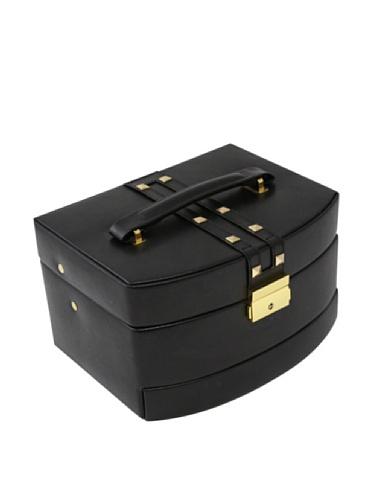 Bey-Berk 3-Level Studded Leather Jewelry Box, Black (Studded Box)