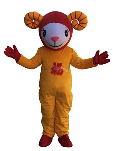Sinoocean Goat Sheep Cartoon Mascot Costume Fancy Dress Cosplay Suit Outfit]()