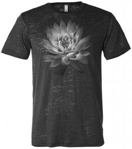 Yoga Clothing For You Mens Lotus Flower Burnout Tee Shirt, L