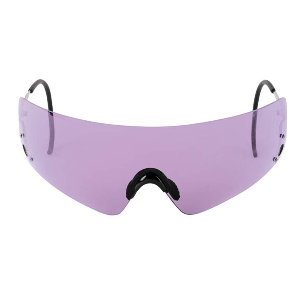 Beretta Dedicated Metal Frame Shooting Glasses for Eye Protection - Tactical Eyewear with Wrap Around Design - Sharp Shooter Safety Glasses - Hard Case & Cleaning Soft Bag Included, Purple Lens by Beretta