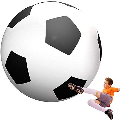 Happybuy Giant Beach Ball 6 ft / 8 ft Diameter Extra Large Inflatable Beach Ball Pool Toy Jumbo Beach Ball (6' Soccer Ball)
