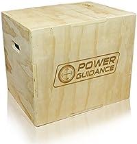 POWER GUIDANCE 3 en 1 Plyobox, Caja Pliométrica - Ideal para entrenamiento cruzado - 75/60/50CM, 60/50/45CM, 40/35/30CM - Jump box