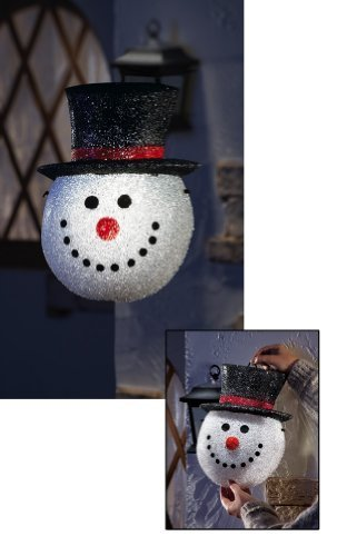 Holiday Snowman Head Porch Light Cover Snowman (Front Porch Cover)