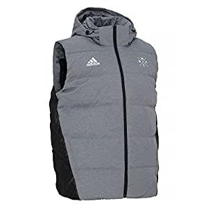 adidas 2015/16 Real Madrid Down Padded Chaleco, Hombre, Grey/Black, Large