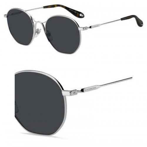 Givenchy Women's Round Metal Frame Sunglasses, Palladium/Grey Blue, One Size