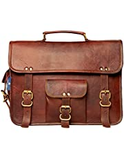 """Leather Messenger Bag, Handmade Satchel Bag, Office Laptop Bag, Personalized Gift for him and her 11"""" 13"""" 15"""" 17"""" inches Bags"""